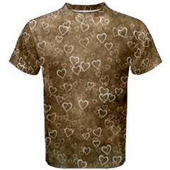 Heart Pattern Men s Cotton Tee