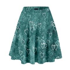 Heart Pattern High Waist Skirt