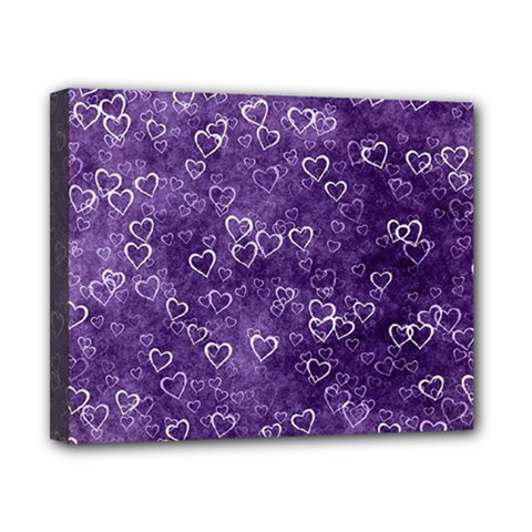 Heart Pattern Canvas 10  X 8