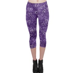 Heart Pattern Capri Leggings