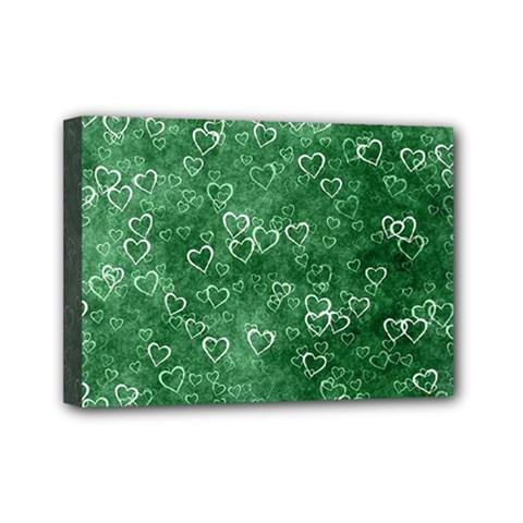 Heart Pattern Mini Canvas 7  X 5