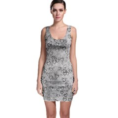 Heart Pattern Bodycon Dress