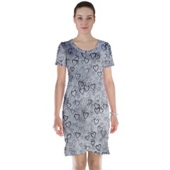 Heart Pattern Short Sleeve Nightdress