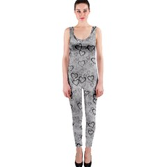 Heart Pattern Onepiece Catsuit