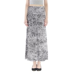 Heart Pattern Full Length Maxi Skirt