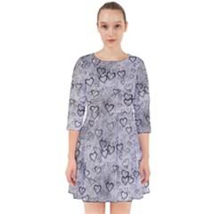 Heart Pattern Smock Dress