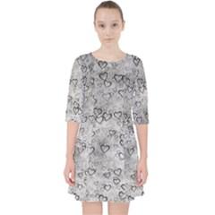 Heart Pattern Pocket Dress