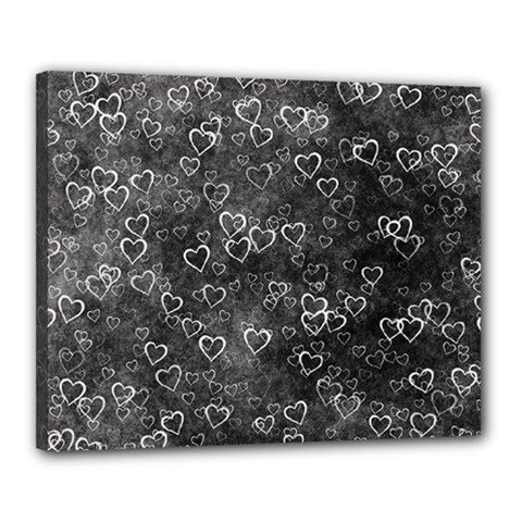 Heart Pattern Canvas 20  X 16