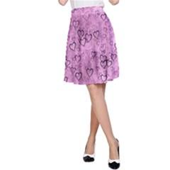 Heart Pattern A Line Skirt