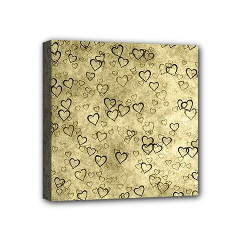 Heart Pattern Mini Canvas 4  X 4