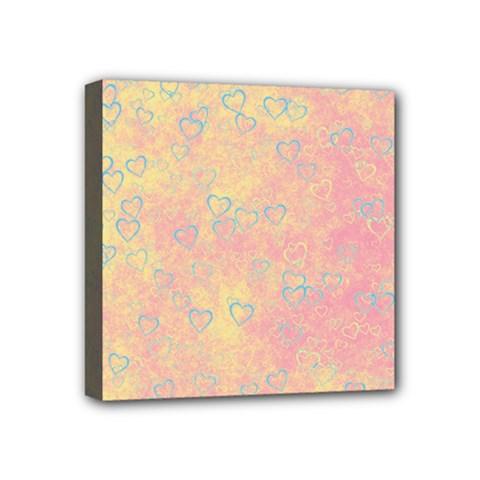 Heart Pattern Mini Canvas 4  X 4