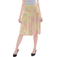 Heart Pattern Midi Beach Skirt