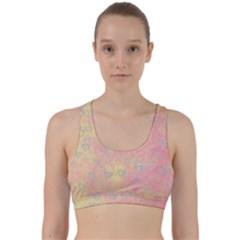 Heart Pattern Back Weave Sports Bra