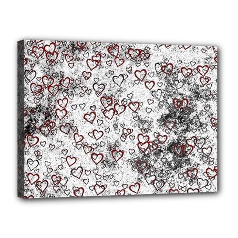 Heart Pattern Canvas 16  X 12