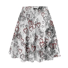 Heart Pattern High Waist Skirt