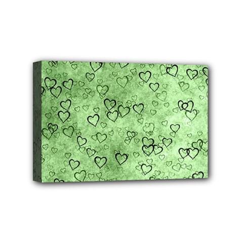 Heart Pattern Mini Canvas 6  X 4