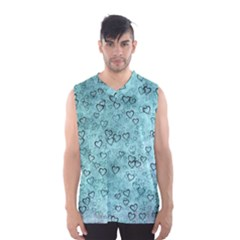 Heart Pattern Men s Basketball Tank Top