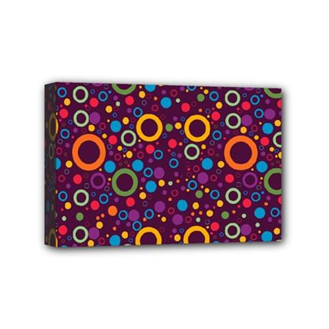 70s Pattern Mini Canvas 6  X 4