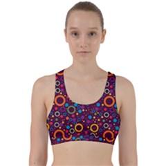 70s Pattern Back Weave Sports Bra