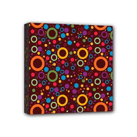 70s Pattern Mini Canvas 4  X 4
