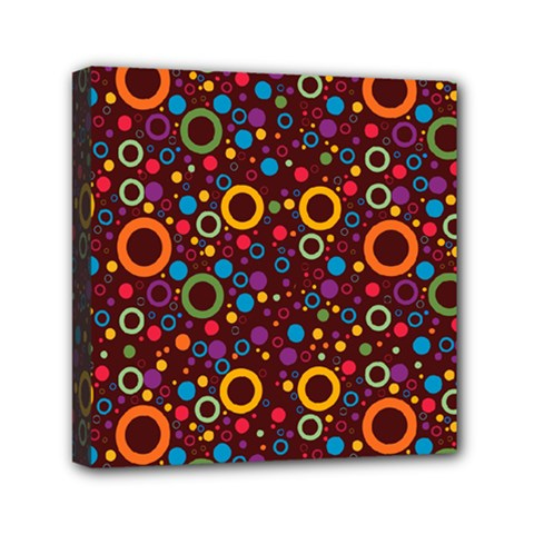 70s Pattern Mini Canvas 6  X 6