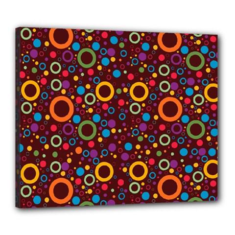 70s Pattern Canvas 24  X 20