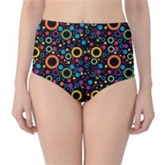 70s Pattern High Waist Bikini Bottoms