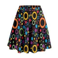 70s Pattern High Waist Skirt