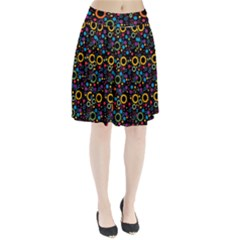 70s Pattern Pleated Skirt
