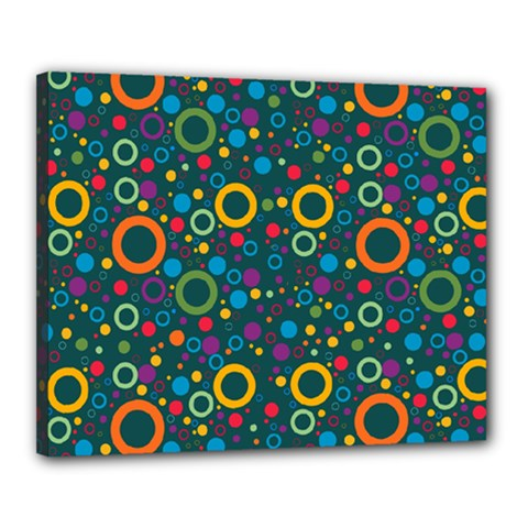 70s Pattern Canvas 20  X 16