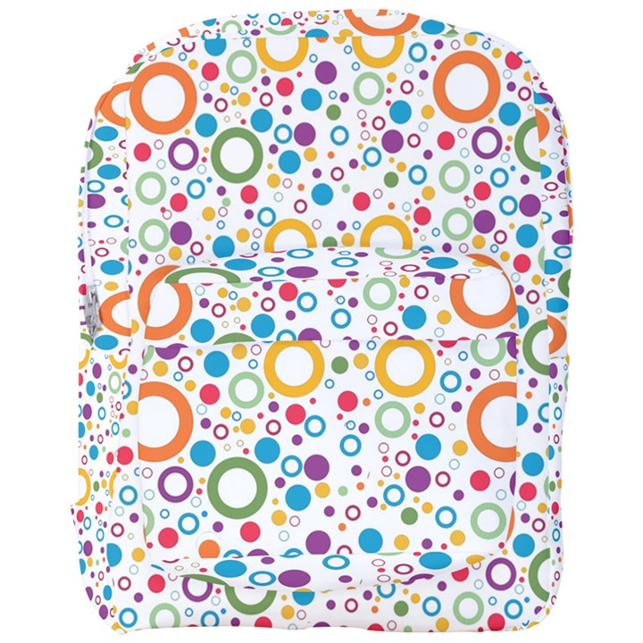 70s pattern Full Print Backpack
