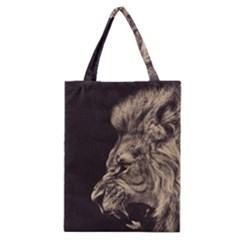 Angry Male Lion Classic Tote Bag