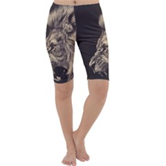 Angry Male Lion Cropped Leggings