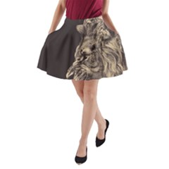 Angry Male Lion A Line Pocket Skirt