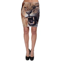 Male Lion Angry Bodycon Skirt