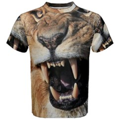 Male Lion Angry Men s Cotton Tee