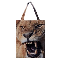 Male Lion Angry Classic Tote Bag