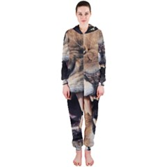 Male Lion Angry Hooded Jumpsuit (ladies)