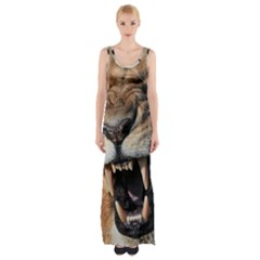 Male Lion Angry Maxi Thigh Split Dress