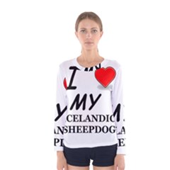 Iceland Sheepdog Love Women s Long Sleeve Tee