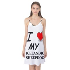 Iceland Sheepdog Love Camis Nightgown