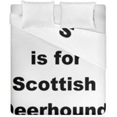S Is For Scottish Deerhound Duvet Cover Double Side (california King Size)