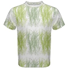 Weeds Grass Green Yellow Leaf Men s Cotton Tee