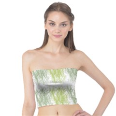 Weeds Grass Green Yellow Leaf Tube Top