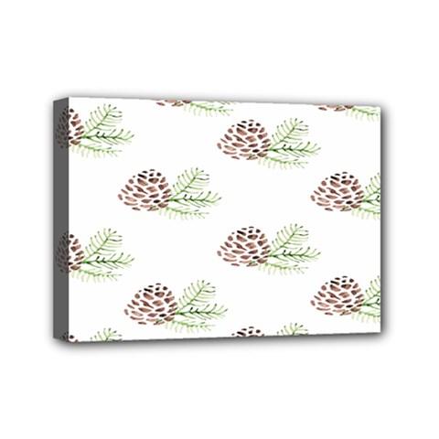 Pinecone Pattern Mini Canvas 7  X 5