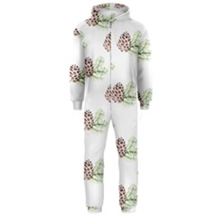 Pinecone Pattern Hooded Jumpsuit (men)
