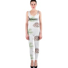 Pinecone Pattern Onepiece Catsuit