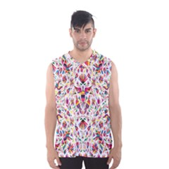 Peacock Rainbow Animals Bird Beauty Sexy Flower Floral Sunflower Star Men s Basketball Tank Top