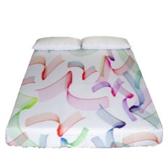 Rainbow Green Purple Pink Red Blue Pattern Zommed Fitted Sheet (queen Size)