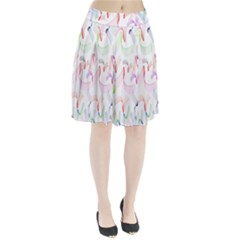 Rainbow Green Purple Pink Red Blue Pattern Zommed Pleated Skirt